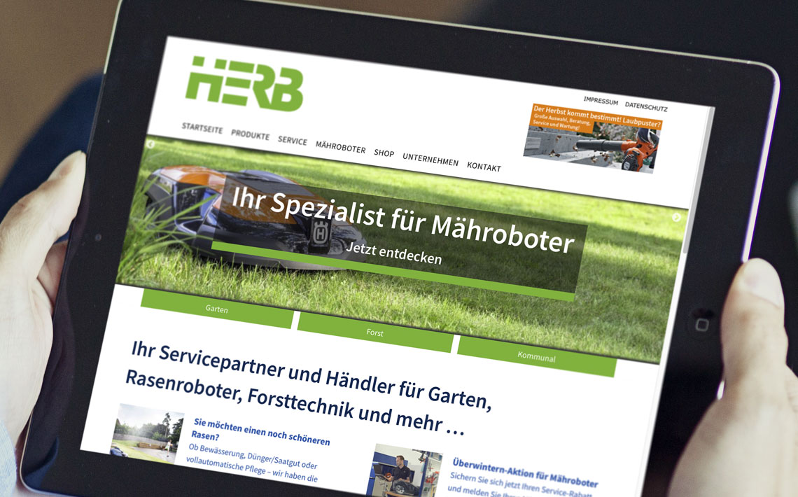 Herb GmbH, Corporate Website